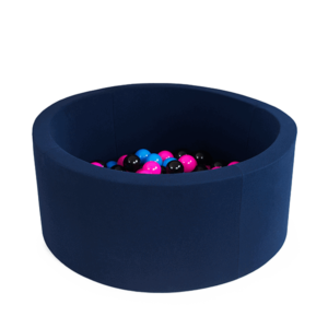 Bällebad Smart - Klein-Rund, Marineblau