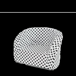 Sitz – Smart, Weiss Mit Schwarzen Kreuzen