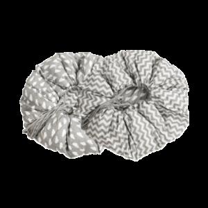 Matte 2in1, Grau-Weisser Zigzag