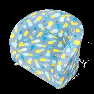 Sitz – Smart, Grau Mit Blauen Ananas