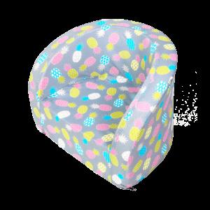 Sitz – Smart, Grau Mit Pinken Ananas