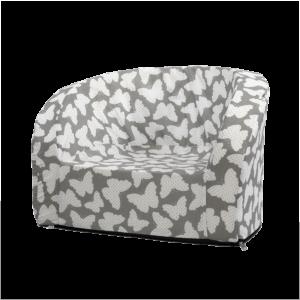 Sitz – Smart, Grau Mit Weissen Schmetterlingen