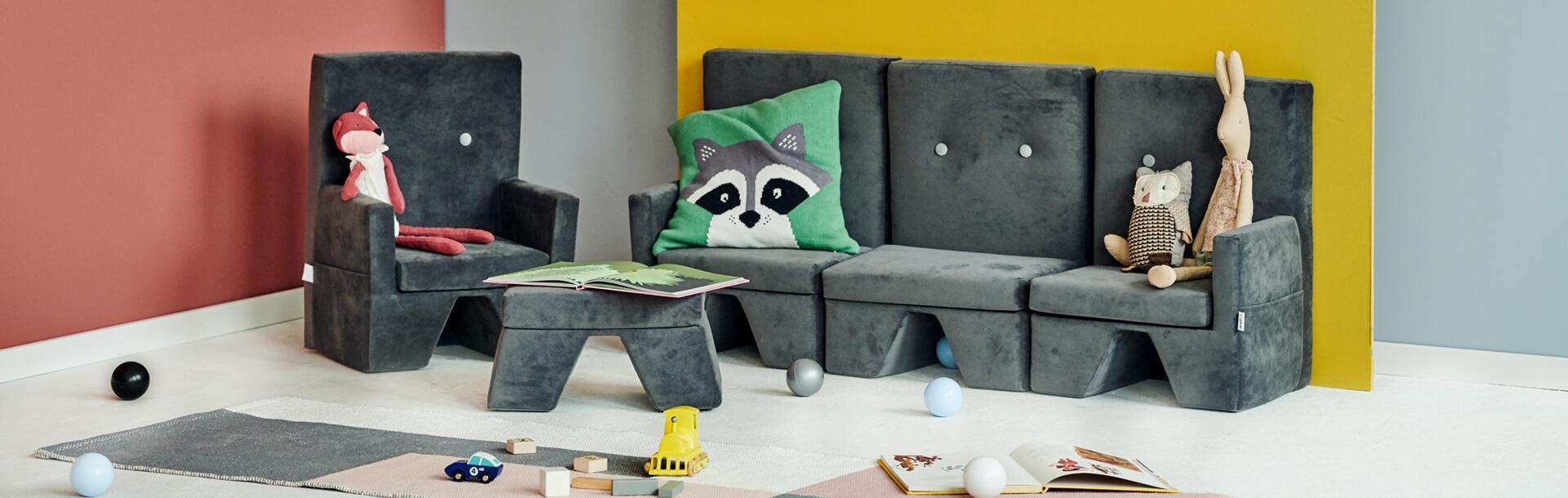 Sofa-Bett – Gold