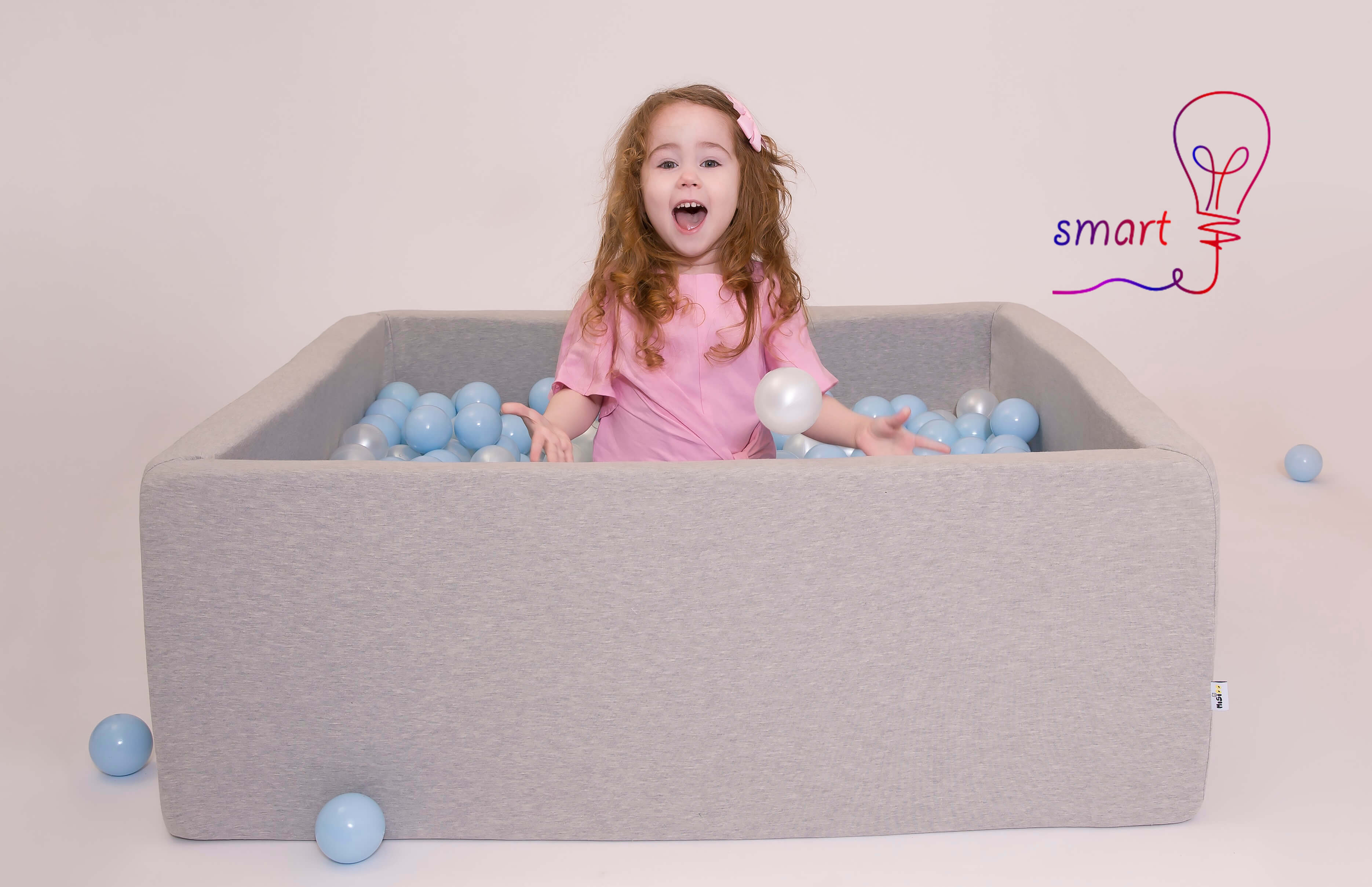 baby bällebad grau - kollektionen smart
