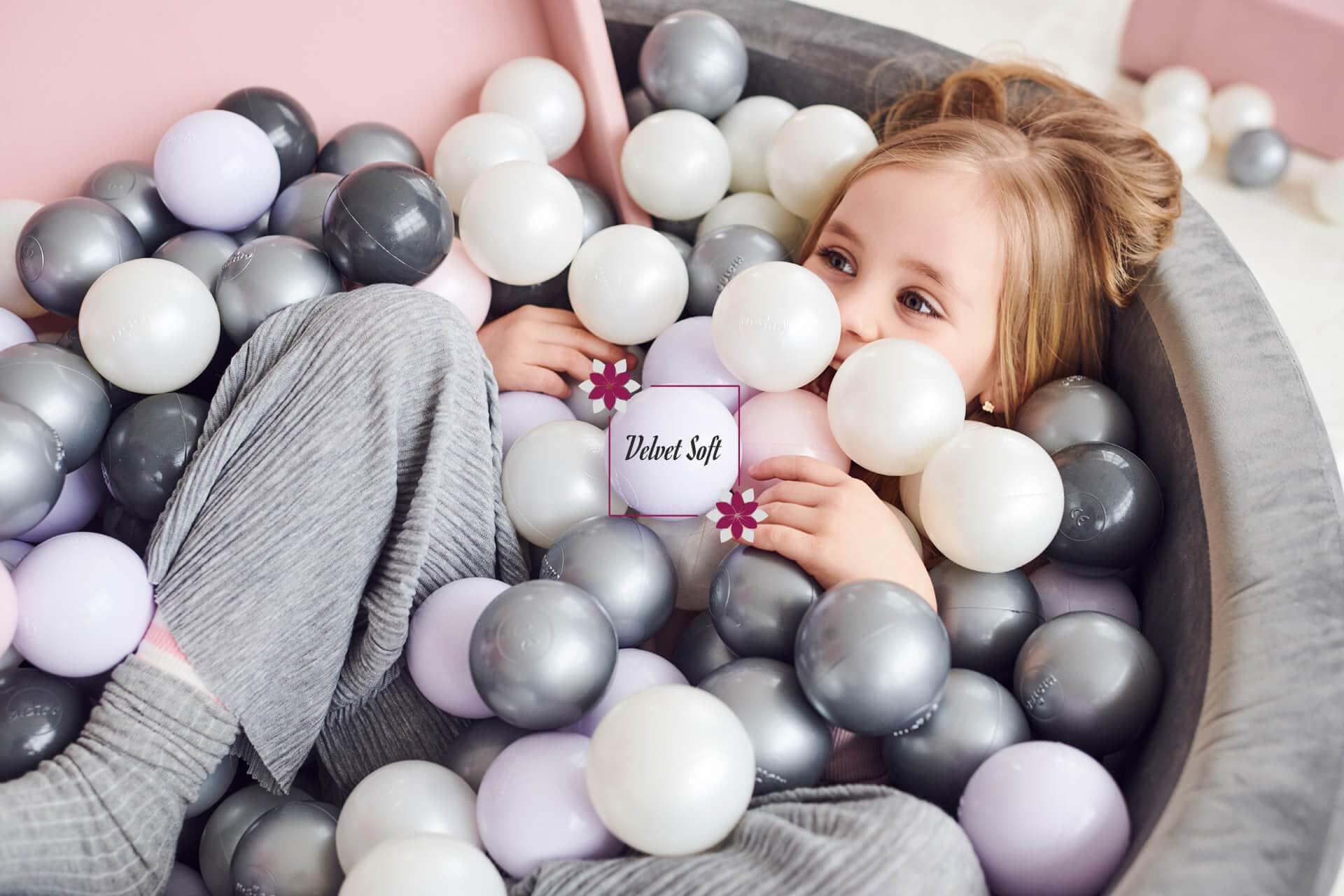 baby bällebad grau - kollektionen velvet