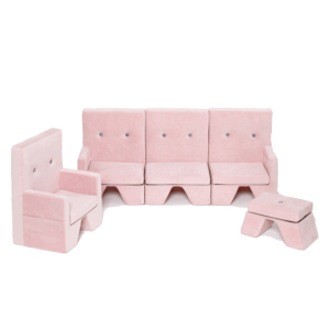 rosa Kindermöbelset