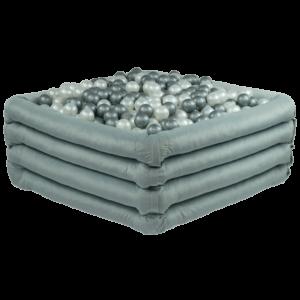 Bällebad Comfort+Quadratish Hellgrau