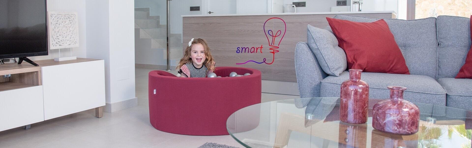 Bällebad Smart !Top Angebot! – 100x30cm, Schwarz