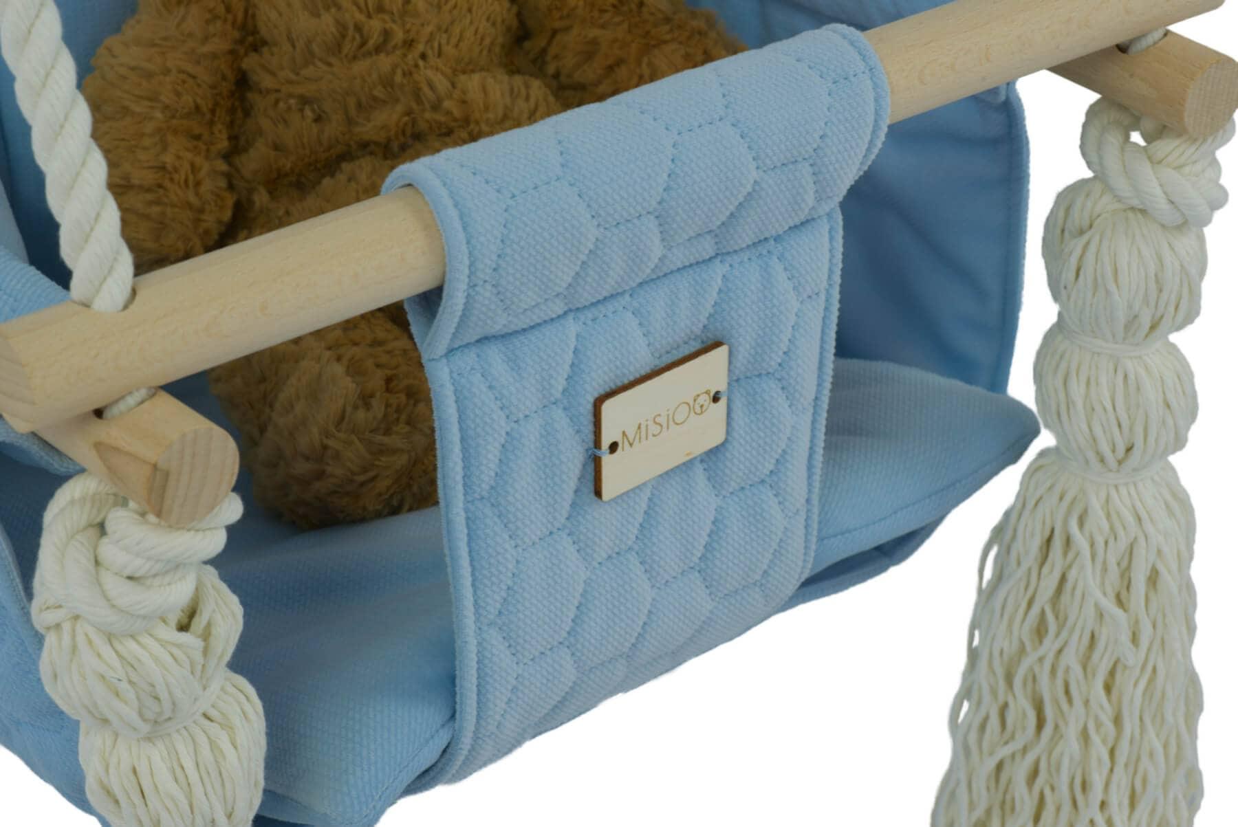 Kinderschaukel Holz Misioo - blau